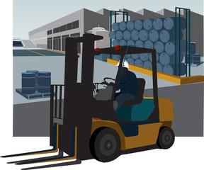 Forklift silhouette