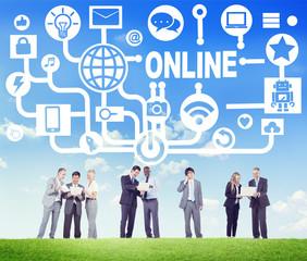 Global Online Communication Social Technology Concept