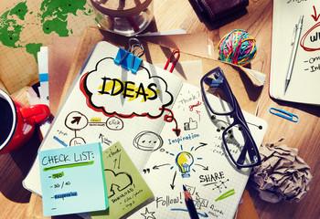 Ideas Designer Desk Architectural Tools Notebook Office Concept