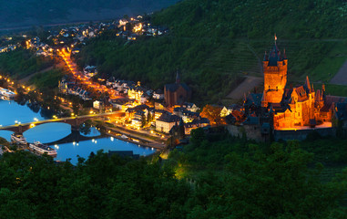 Mosel river and Cochem Imperial Castle