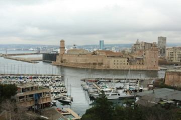 harbour of Marseille, france