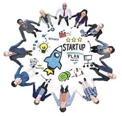 Start Up Business Launch Success Business Team Concept