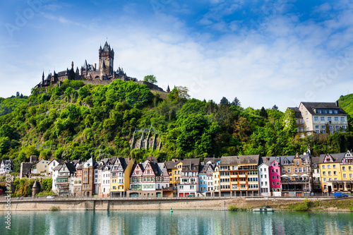 Town of  Cochem with the imperial Castle - 76134253