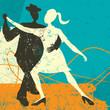 Постер, плакат: Two Tango Dancers