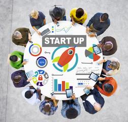 Business People Digital Communication Start up Creativity Concep
