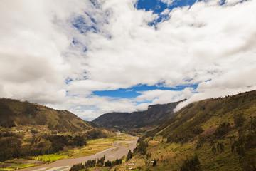 Horizon over the Pastaza River, Ecuador, south america