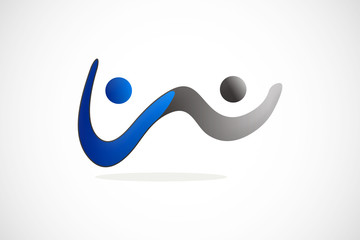 abstract wave partner logo