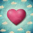 Zdjęcia na płótnie, fototapety, obrazy : Vintage Valentines Day card with purple heart