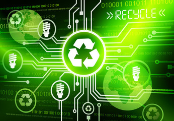 Green Business Technology Recycle Energy Vector Concept