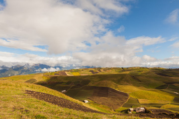 Agriculture in the Andes mountain peaks