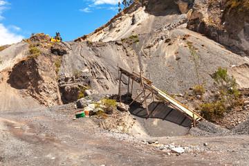stone quarry, Ecuador, South america, Andes mountain