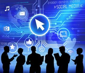 Vector Business Social Media Business Teamwork Concept