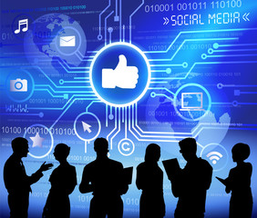 Social Media Technology Digital Communication Vector Concept