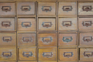 Wood drawers