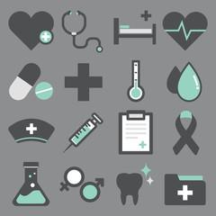 Vector of Health Hospital Flag Design Icons Symbol Concept