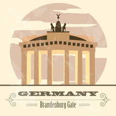 Germany landmarks. Retro styled image