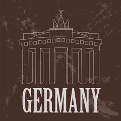 Germany landmarks. Retro styled image