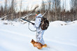 hunting in winter - 76137417