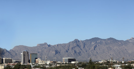 Arizona one of Major Cities, Tucson; panorama