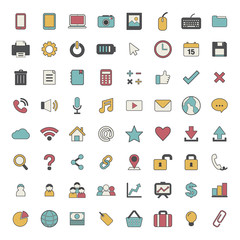Mix Icons Social Media Finance Business Vector Concept