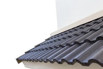 black roof tiles on new house