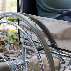 detail of empty wheelchair