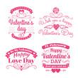Valentine's day set of label, badges, stamp and design elements