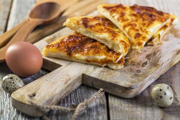 Georgian cheese pie - khachapuri.