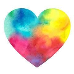 watercolor painted heart