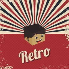 retro cartoon character