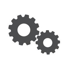 Vector of Flat Design Setting Setup Gear Icon Concept