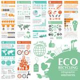 Environment, ecology infographic elements. Environmental risks, - 76139647
