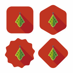 kitchenware rag flat icon with long shadow,eps10