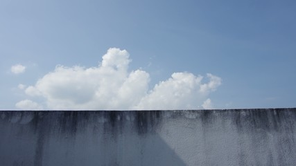 time-lapse of cloud moving over the wall with the shadow fading