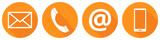 Orangene Kontakt Icons - 76141238