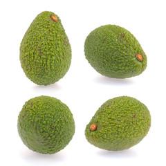 Collection of fresh green avocado