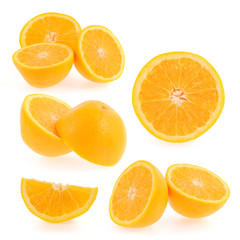 orange fruits slices collection