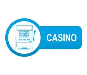 Etiqueta app lateral azul CASINO