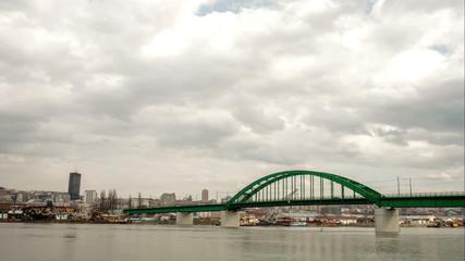 Belgrade City clouds time lapse