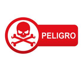 Etiqueta app lateral roja PELIGRO