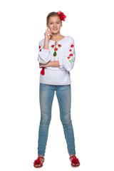 Cheerful teen Ukrainian girl