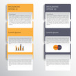 Modern business style options banner. Vector eps10