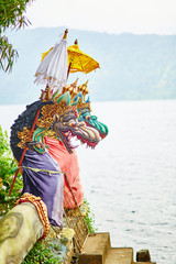 Traditional Balinese statues in Pura Ulun Danu