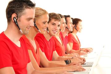 Mitarbeiter im Callcenter