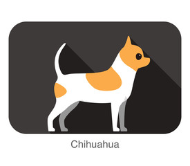 breed standing flat icon design