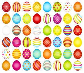 Set 48 Easter Eggs Pattern