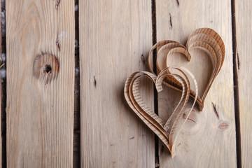 Heart-shaped cutout St Valentines hearts