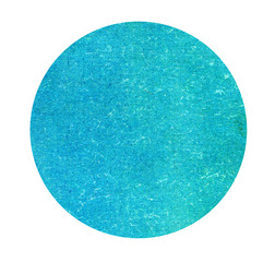 Blue circle blank paper isolated