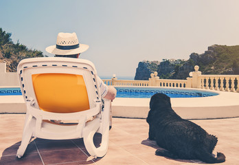 Dog and Owner on Vacation