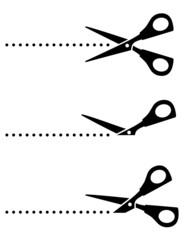 set of scissors with black points